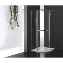 Душевой уголок Cezare Bergamo R1 Arco (R) (100x100) прозрачное стекло